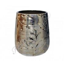 Gouden vaas met bloemprint
