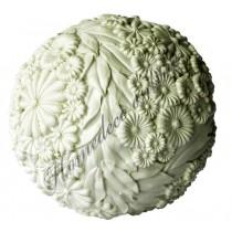 Kunststof decoratie bal wit 10x10 cm