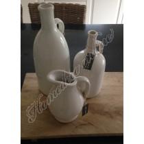 Bottle paraffin creme wit 14x31 cm