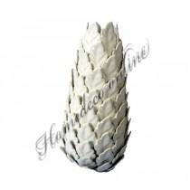 Mooie vaas wit, bladvormig