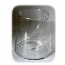 Glazen vaas hoogte 16 cm