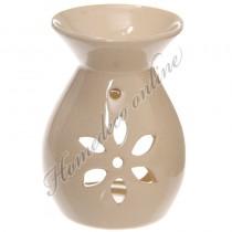 Oliebrander bloem creme 11,5x8,5 cm