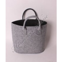 Vilt tas grijs/zwart  45x20x32 cm