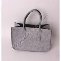 Vilt tas grijs/zwart rechthoek 40x20x25 cm