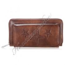 Ster portemonnee bruin