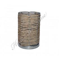 Windlicht touw incl.glas klein 9,5x12 cm