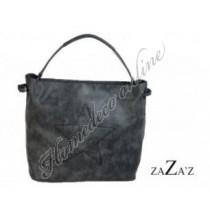 """Tas ster met binnentas """"bag in bag"""" grijs 39x28 cm"""