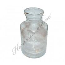 Vaas doorzichtig met bubbels 30 cm